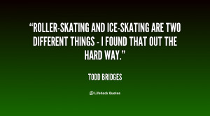 Roller-skating and ice-skating are two different things - I found that ...