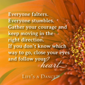 Life's a dance quote