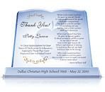 Teacher Retirement Plaque with Engraving 'Teacher Appreciation'