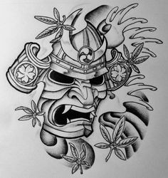 samurai mask tattoos | samurai mask and japanese maple by 814ck5t4r ...