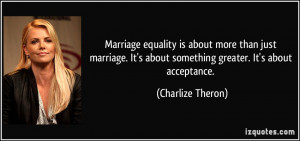 Marriage equality is about more than just marriage. It's about ...