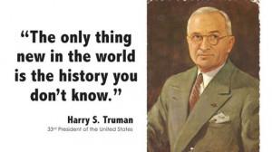 Harry Truman on Newness
