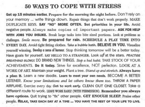 ... do to help when i feel to stressed so find what helps relieve stress
