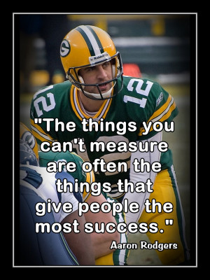 Aaron Rodgers Poster Green Bay Packers Photo Quote Fan Wall Art Print ...