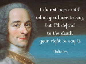 Voltaire Freedom of Speech Quotes