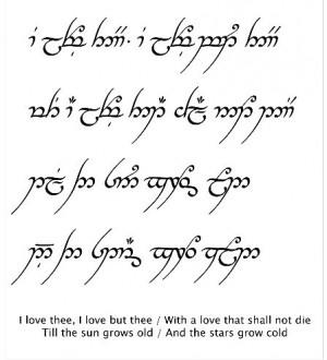 Elvish Tattoo Quotes Elvish. via marielena flores