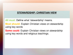 Christian Stewardship PowerPoint by liuhongmeiyes