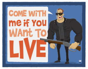Arnold Schwarzenegger Movie Quote Illustrations