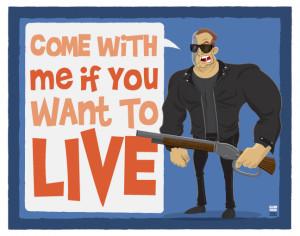Arnold Schwarzenegger Movie Quote Illustrations