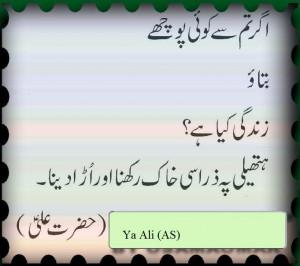 Hazrat Ali AS Saying in Urdu