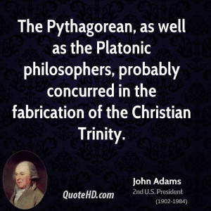 The Pythagorean, as well as the Platonic philosophers, probably ...
