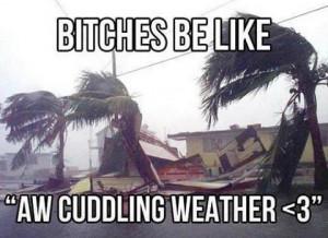 cuddling weather #hurican #cuddling #funny #guys