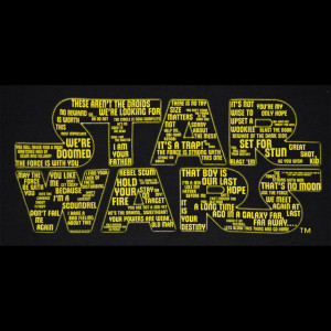 Star Wars - Quotes Logo T-shirt