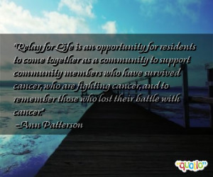 Relay for Life is an opportunity for