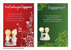 Two A5 Engagement Cards with Verses by Tom Curtis