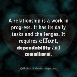 relationship is a work in progress