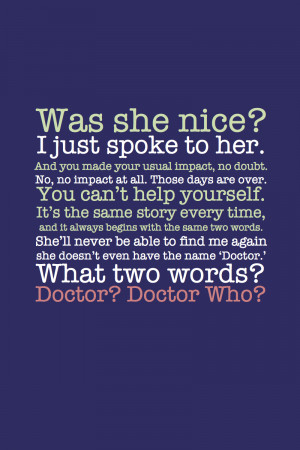Clara Doctor Who Quote...