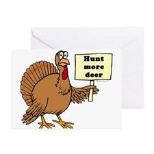 Turkey: Hunt More Deer Greeting Cards (Package of for