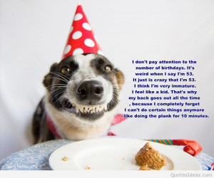 Happy Birthday Funny Dog Quotes