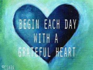 Attitude of gratitude.