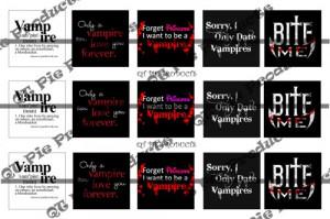 Vampire Sayings 1 inch square