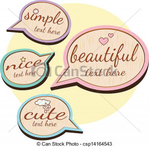 Vector - cute wood quote - stock illustration, royalty free ...