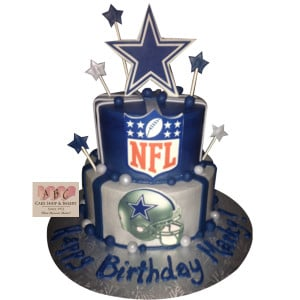 ... Cakes / Birthday Cakes / (1627) 2 Layer Dallas Cowboy Birthday Cake