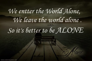 Alone Quotes Pictures