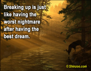 Breaking Up Is Just Like Having The Worest Nightmare After Having The ...