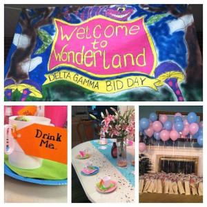 Bid Day theme: Alice and Wonderland