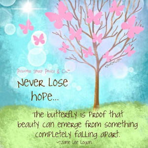 Never Lose Hope Butterfly Life Daily Quotes Sayings Picturesjpg