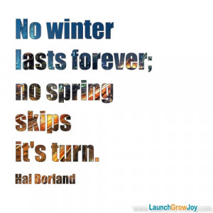 Great quote from Hal Borland