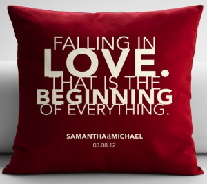 personalized falling in love quote throw pillow cover $ 50 usd ...