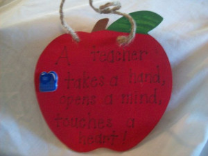 Teacher gift apple decor with quote christmas by ToadallyTeacher, $4 ...