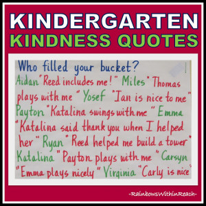 of: Kindergarten Kindness Quotes (RoundUP of Bucket Filling + Kindness ...