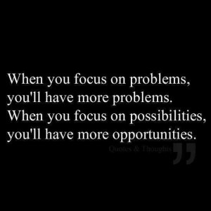 Focus on what u attract