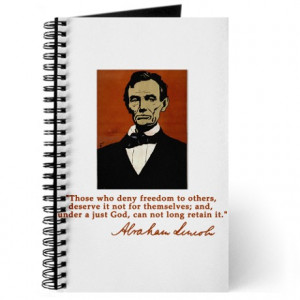 ... abe lincoln journals spiral notebooks abe lincoln freedom quote