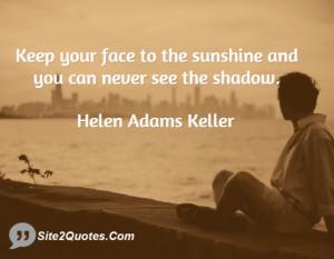 Inspirational Quotes - Helen Adams Keller