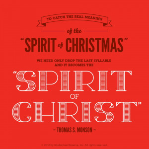 to catch the real meaning of the spirit of christmas