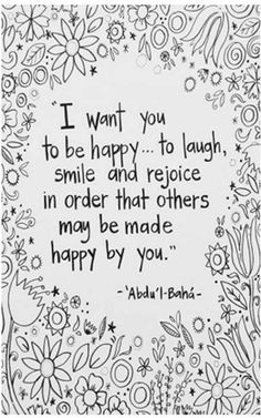 hapiness # Bahai Quotes