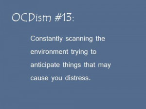 ... Tags: OCD OCDisms anxiety obsessive-compulsive disorder hypersensitive