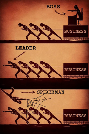 "... - Business, Leader-Business, Spiderman- Business "" ~ Teamwork Quote"