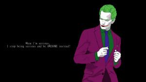 Barney Stinson as The joker quote Wallpaper