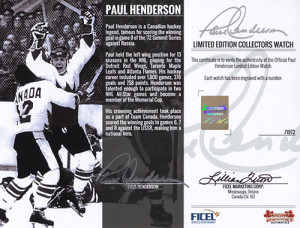 Paul Henderson Team Canada '72 Limited Edition Collectors Watch