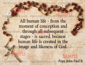 Pope John Paul II Quote Poster
