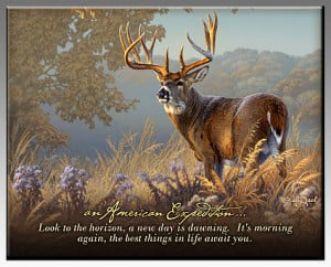 Whitetail Deer Inspirational Wildlife Wall Plaque