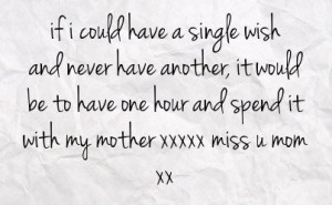 Miss You Mom Quotes | … be to have one hour and spend it with my ...