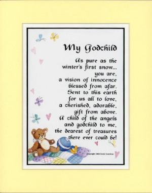 Godmother Poems Godchild Poem