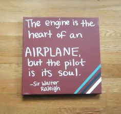 New Large Airplane Vinyl Wall Decal with flying quote