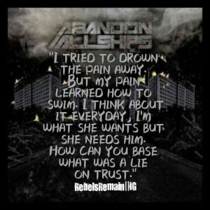 Abandon All Ships August lyrics